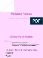 Religious Policies