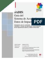 Guía del Sistema de Acopio de Datos de Inversión Social en las Cooperativas (SADIS)- Revision marzo 2013