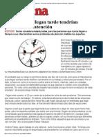 Personas que llegan tarde tendrían problemas de atención.pdf