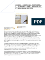Provincial Council Elections Northern, Central and Northwestern Provinces September 21st 2013 Final Report
