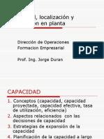 Capacidad Distribucion de Planta