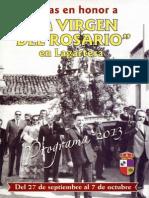 Programa Fiestas Virgen Del Rosario Lagartera