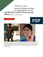Sri Lanka's TamilsHarder lines