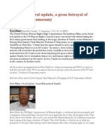 Navi Pillay's Oral Update, A Gross Betrayal of Tamils Prof Ramasamy