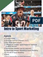 Intro to Sport Marketing