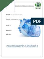 Cuestionario Unidad Bases de Datos