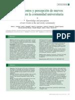 Conocimientos y Percepcion de a en Los Universitarios