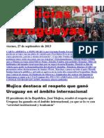 Noticias Uruguayas Viernes 27 de Setiembre Del 2013