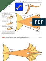 Squid papercraft origami