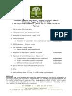 DOA Board Meeting August 7, 2013 Agenda Packet