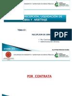 Modulo IV Recepcion y Liquidacion de Obra y Albitraje