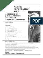 A Critique of j. k. Galbraith