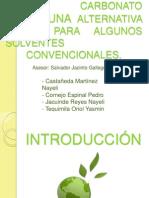 DMC Una Alternativa Verde Para Solventes Convencionales.