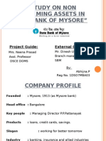 NPA Management- project in state bank of mysore