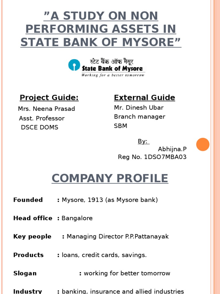 npa management in banks Keywords banks risk management ownership structure financial   disaggregated information on the micro-management of npas and the.