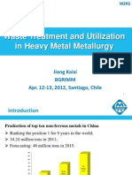 Waste Treatment in Metal Metallurgy