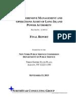 PSC Audit of LIPA 2013