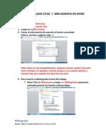 Como Realizar Citas y Bibliografia en Word (1)