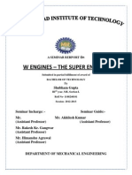 Seminar Report on W Engine- the super engine