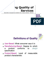 4. Managing Quality of Services