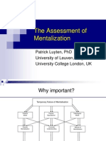 The Assessment of Mentalization