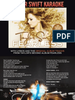 Digital Booklet - Taylor Swift Karaoke - Fearless.pdf
