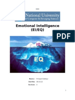 Emotional Intelligence (EI/EQ)
