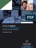 Annale Ecricome Prepa 2012 Economie Du Droit