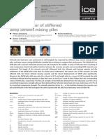 Field Behaviour of Stiffened Deep Cement Mixing Piles