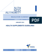 RegulatoryGuidance-Health Supplements Guidelines (Jan2010)