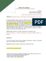 Artigo Modelo - FSH