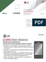 Celular LG E400 (limba romana )