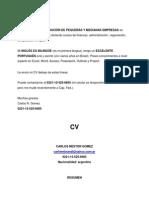 Cv Prof Administr + Carta