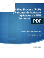 Applying Rational Unified Process (RUP) and Software Design Patterns in CMMi Technical Solution | CIISA 2008