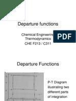 Departure Functions