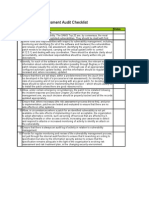 Vulnerability Assessment Audit Checklist