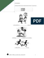 K2 English Grammar and Vocabulary Worksheet