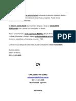 Cv Administrativo Junior Rec Hum + Carta