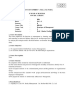 Principles of Management Syllabus