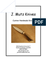 J. Mutz Knives Catalog 2011