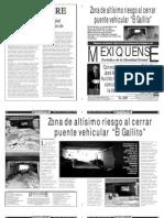 Versión impresa del periódico El mexiquense  27 septiembre 2013
