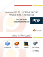 介绍 Percona 服务器 XtraDB 和 Xtrabackup