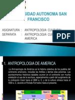 Antropologia Cultural de America