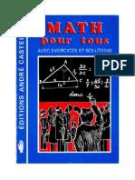 Mathématiques Classiques Math pour tous (Exercices et Solutions) 1982