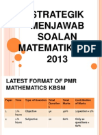 Strategi Menjawab Soalan Matematik PMR 2013