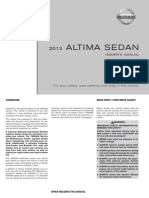 2013 Altima Owner Manual