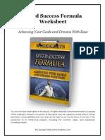 Speed Success Formula Worksheet