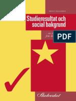Studieresultat Och Social Bakgrund 1995