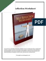 Self Reflection Worksheet
