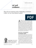 Anti Deferral and Anti Tax Avoidance October2007